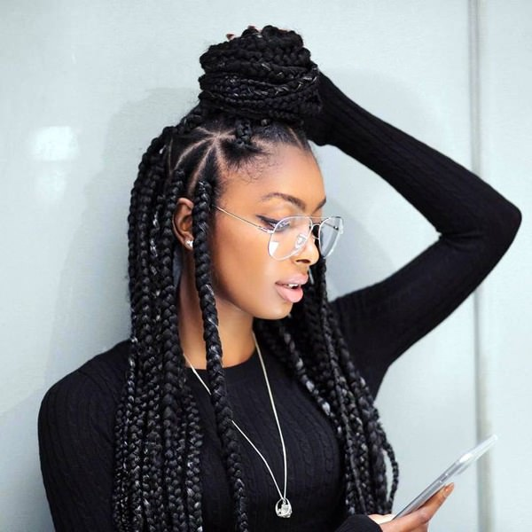 68 Appealing Black Braided Hairstyles That Are Comfy Pitchzine